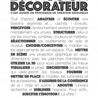 LA MISSION DU DECORATEUR