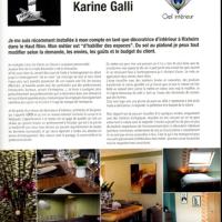 PORTRAIT DE KARINE GALLI DANS DECORATION MADAME