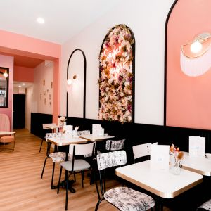 Vignette Agencement et décoration d'un salon de thé à Nantes by Lydie Pineau Kiosque Deco architecture commerciale