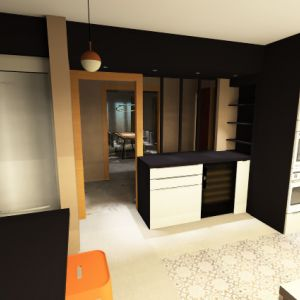 Vignette vue 3D rénovation de la  cuisine