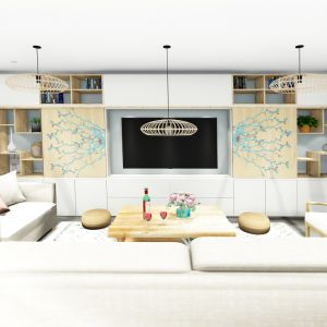 Vignette Rénovation pièce de vie, cuisine, salon, salle à manger, entrée, arrière cuisine et cuisine d'été, villa Garéoult Var