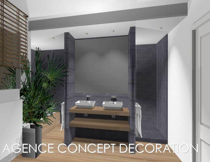 V ronique lhomme agence concept decoration for Amenagement salle de bain zen